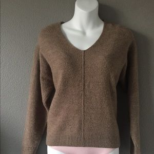 H&M Brown V-Neck knit Sweater Small
